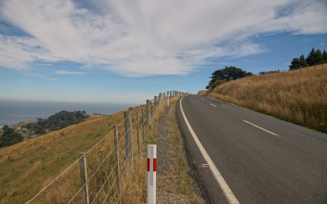 New Zealand road and sky