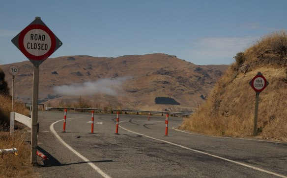 Feb 2013- a section of the Summit Road closed