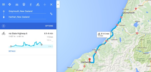 Greymouth To Hari Hari