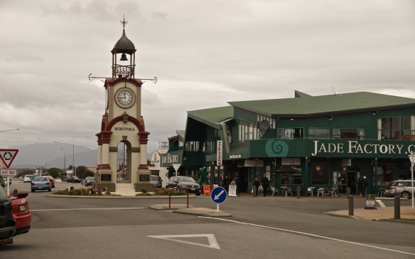 leaving Hokitika - another reminder of the village's claim to fame