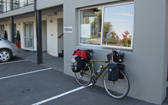 my loaded bike at the start of my South Island ramble