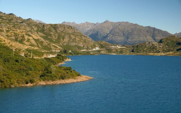 looking back at The Neck from the Lake Hawea side