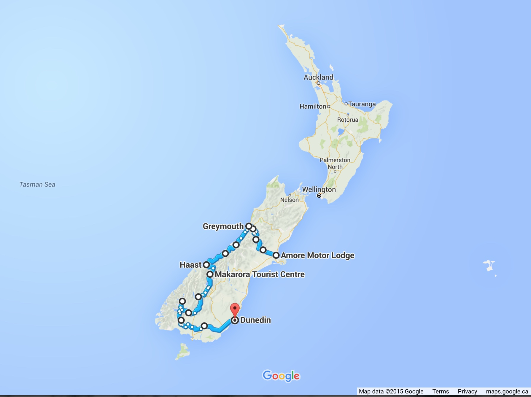 New Zealand Map Google.Bicycling South Island New Zealand Part One Planning A Three Week