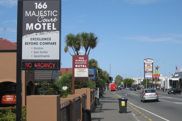 Riccarton Road motel strip