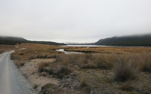 the road back down to the junction and the road to Te Anau