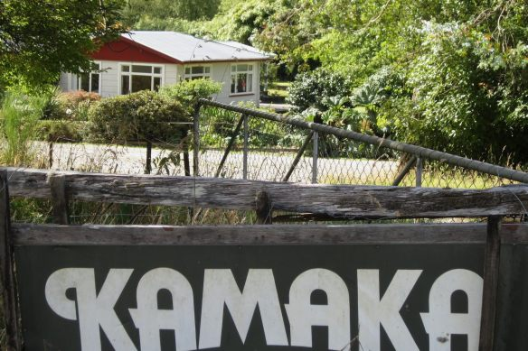 the Stuart Home and the Kamaka sign