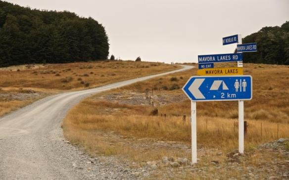 the turn-off to the Mavora Lakes