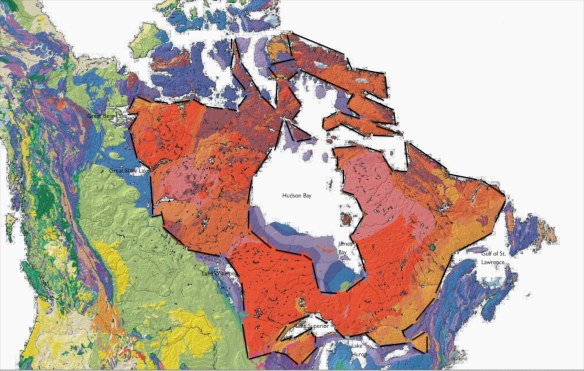 The Canadian Shield - encircling Hudson Bay