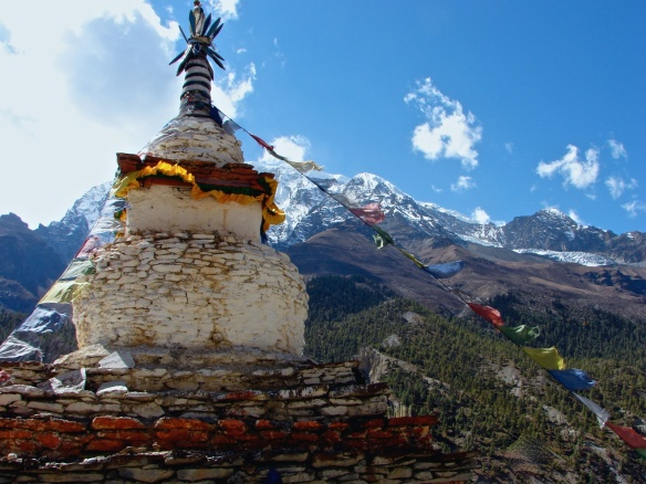 chorten above Manang in the Annapurnas