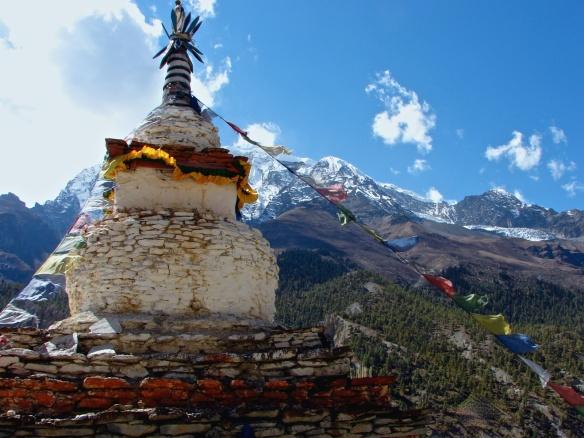 chorten above Manang in the Annapurnas