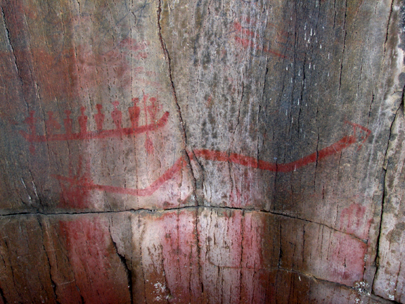 Painted Rock Lake pictograph - source here