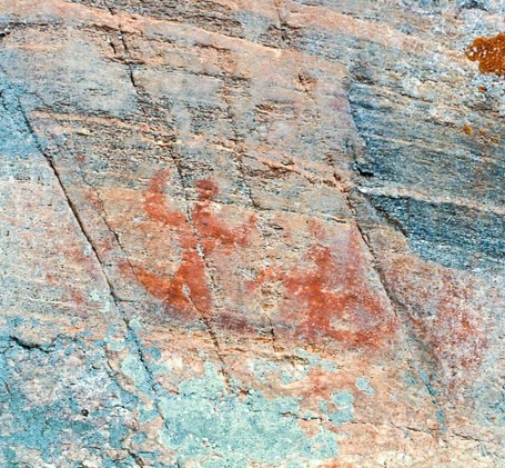 Agnes Lake Site 2 - canoe with two human figures