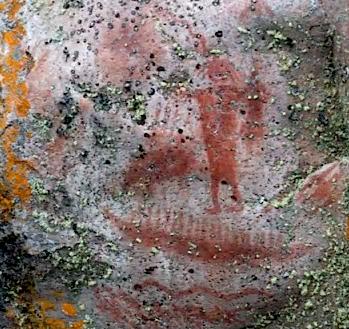 Artery Lake shaman pictograph