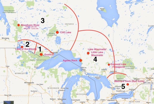 major-ontario-pictograph-locations