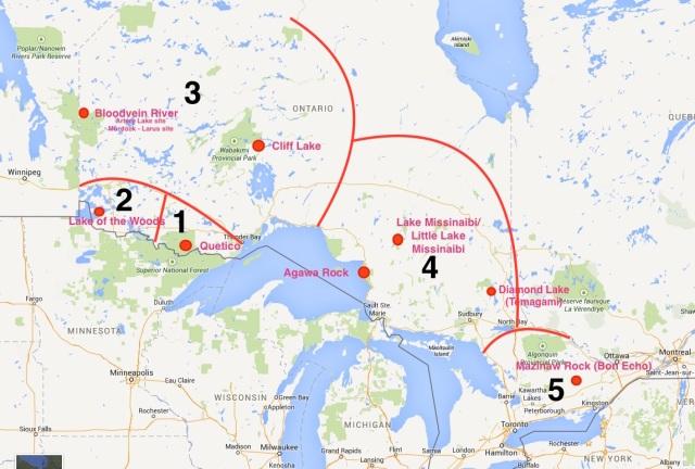 major-ontario-pictograph-locations