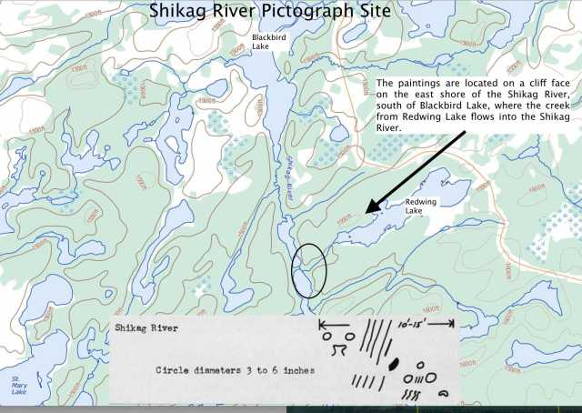 Shikag River Pictograph Site -