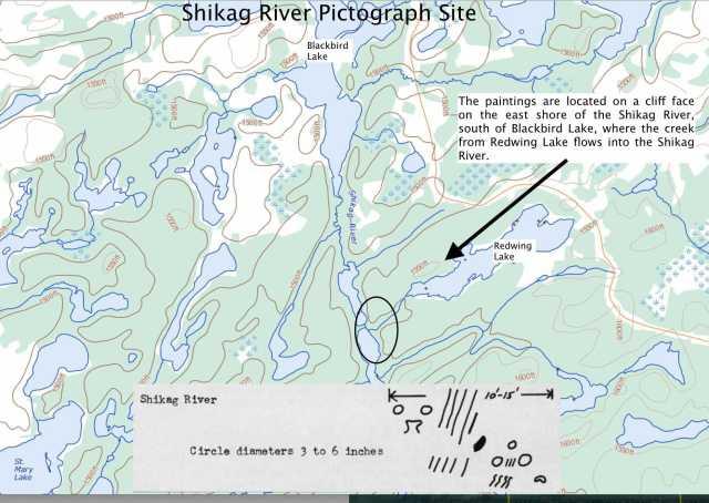 Shikag River Pictograph Site -