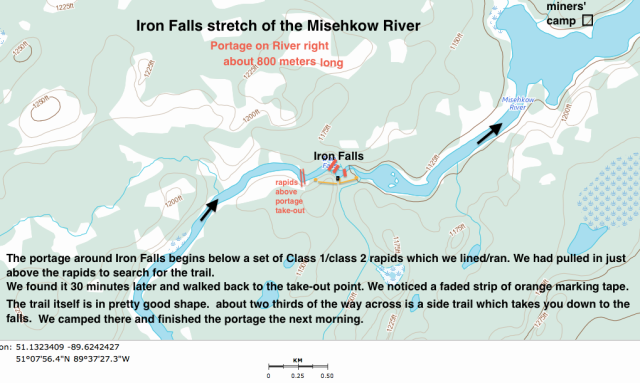The Iron Falls area of the Misehkow River
