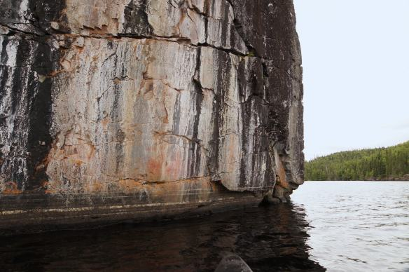 Cliff Lake's  fading pictographs