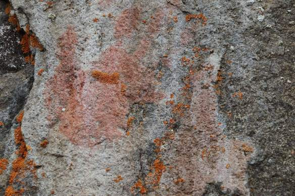 the hand pictograph from the east side of Cliff Lake