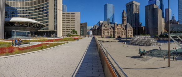 a panoramic view from the City Hall terrace