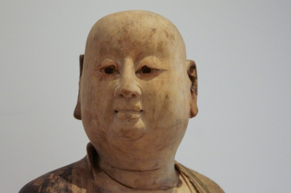 head of the statue of a Chinese monk - ROM