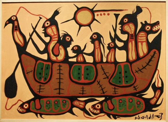 Norval Morrisseau painting titled Migration