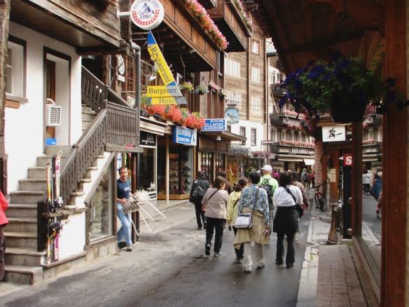Bahnhofstrasse  - Zermatt's main street