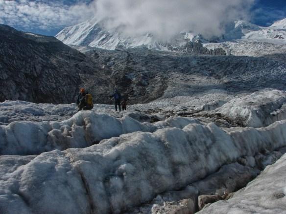 glacier walk to Rotenboden from Monte Rosa Hut