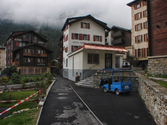 Hotel - Garni Tannenhof - our base camp in Zermatt