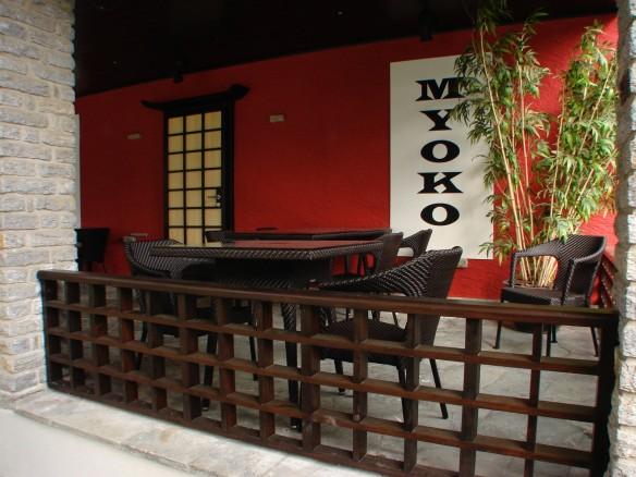 Japanese restaurant porch in Zermatt