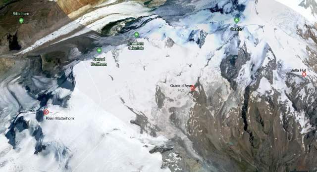 Klein Matterhorn to Sella Hut