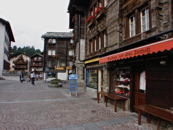 main street Zermatt at 7 a.m