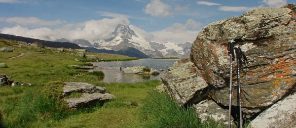 Matterhorn view above Zermatt