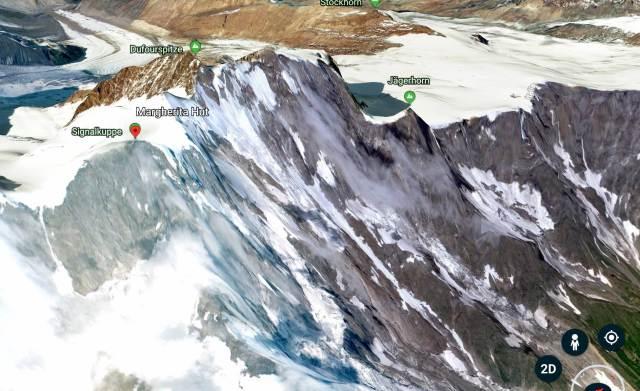 Monte Rosa satellite view