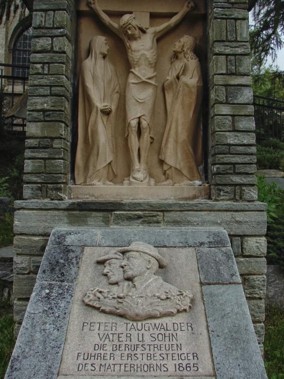 Taugwalder Tombstone at Zermatt Cemetary