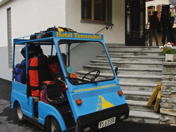 The Tannenhof cart with our gear - time to move on!