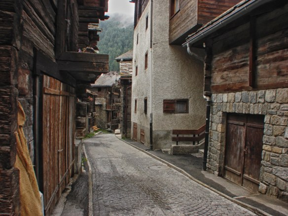 Zermat back street view