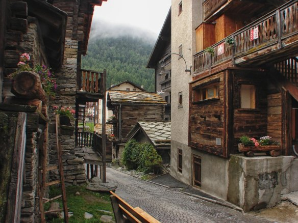 Zermatt side street view