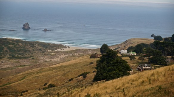 homestead on the south shore of the Otago Peninsula from Highcliff Road