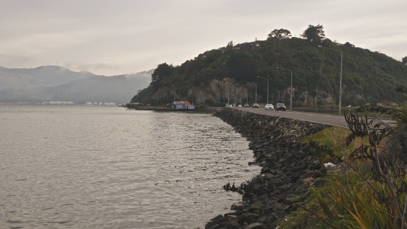 the causeway across Andersons Bay