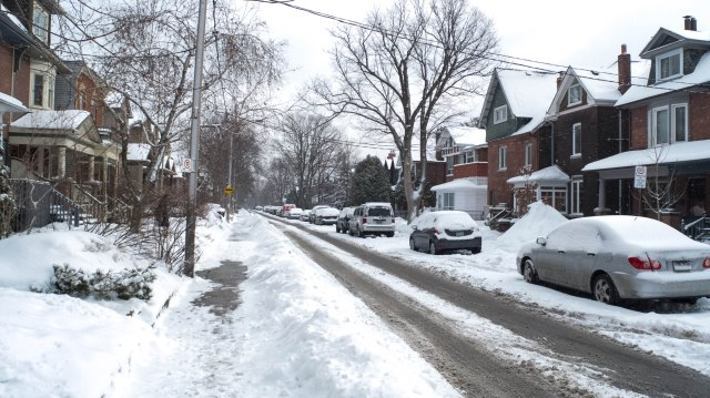 February 18 - my street in Toronto after another snowfall