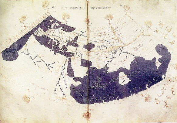 1300's C.E. recreation of Ptolemy's world map