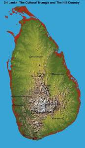 topography of sri lanka