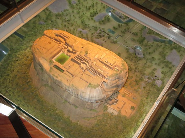 3-D model of the Sigiriya Rock with the summit complex