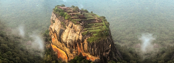 Aerial view of Sigiriya from the east