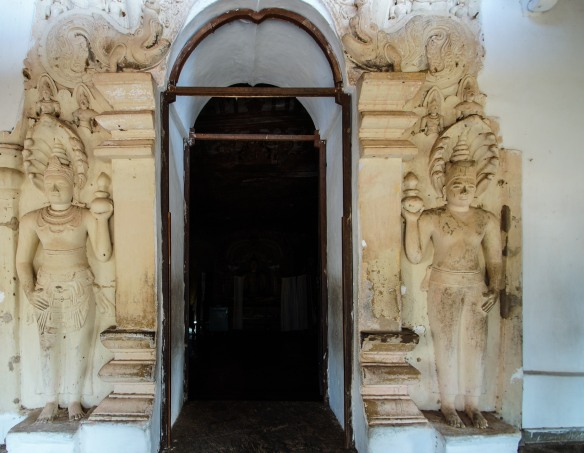 ceremonial archway entrance to Dambulla Cave 3