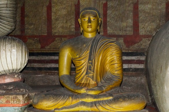 Dambulla Cave 2 seated Buddha in meditation mudra