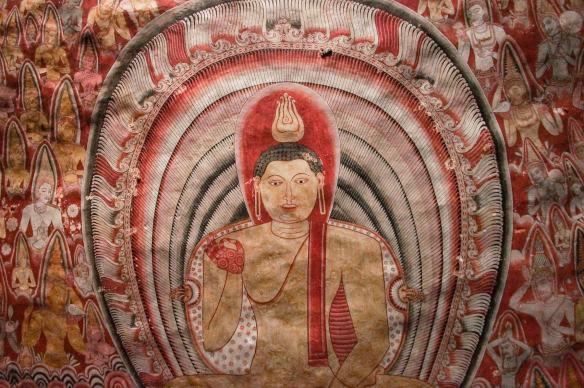Dambulla Cave 3 mural detail