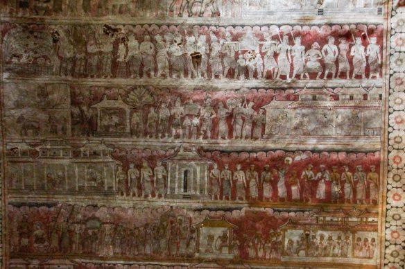 Dambulla Cave 3 mural - Kandyan style panels